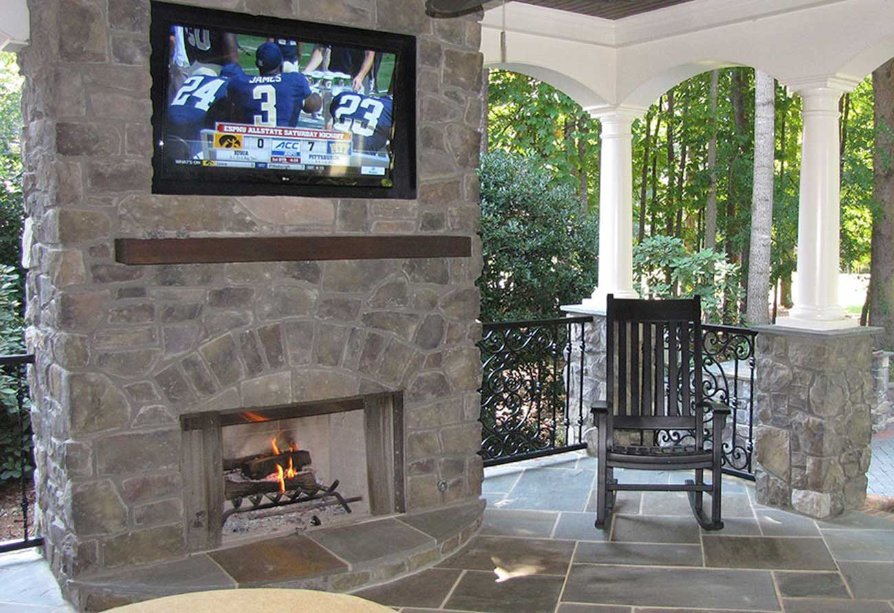 Covered Patio With Fireplace Pictures To Pin On Pinterest